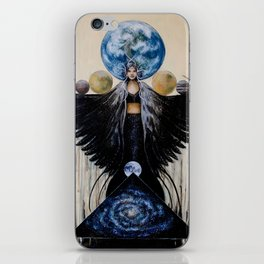 Between the Worlds // Visionary Art Woman Goddess Feminine Earth Moon Planets Stars iPhone Skin