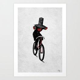 Look No Hands!  Art Print
