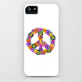Peace Sign of Flowers iPhone Case