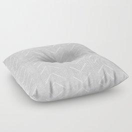 Mudcloth Big Arrows in Grey Floor Pillow