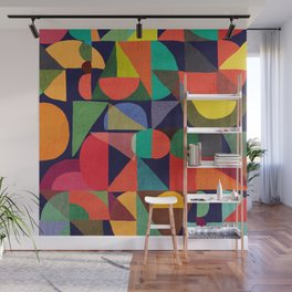 Color Blocks Wall Mural
