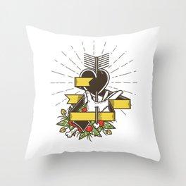 Del Corazón Throw Pillow