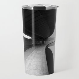 URBAN BLACK AND WHITE PHOTOGRAPH Travel Mug