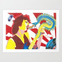 Carlos Santana LSD Electric Snakes Art Print
