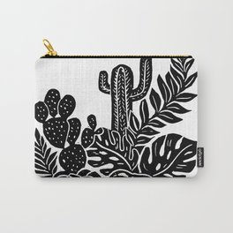 Botanical Pot Block Print Carry-All Pouch