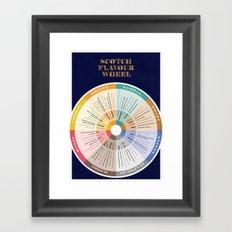 Scotch Flavour Wheel Framed Art Print