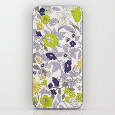 floral garden - blues and greens iPhone & iPod Skin