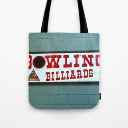 bowling n billiards  Tote Bag