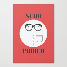 Nerd Power Canvas Print