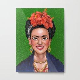Smile Frida Metal Print