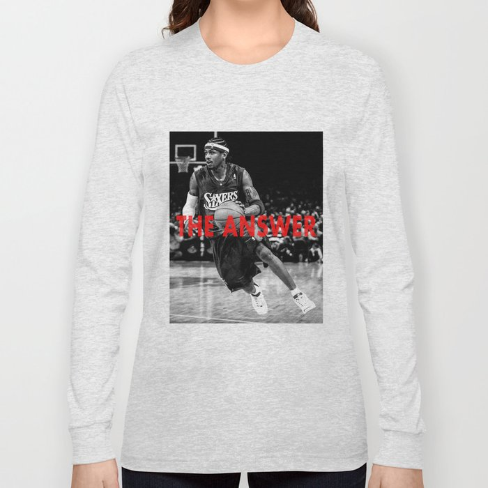 db0378199 ... Allen Iverson The Answer Long Sleeve T shirt by mikealvarez Society6