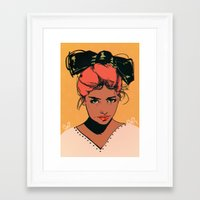 bow Framed Art Prints featuring bow by Galvanise The Dog