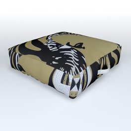 Zulu girl with zebra print 3 Outdoor Floor Cushion
