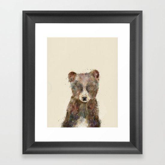 little brown bear Framed Art Print