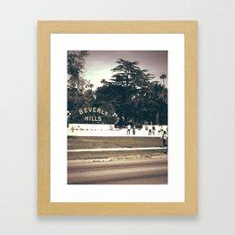 Beverly Hills Framed Art Print