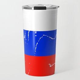 Slovenia flag with grunge effect Travel Mug