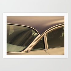 Leather jackets and fuzzy dashboards Art Print