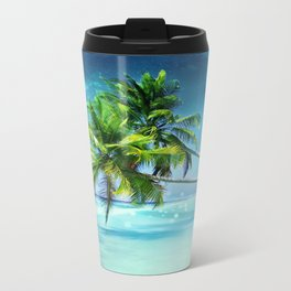 Parrot in the beach Travel Mug