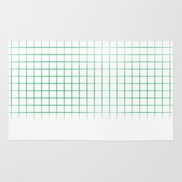Green Grid Rug