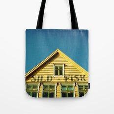 Sunny Yellow House Tote Bag