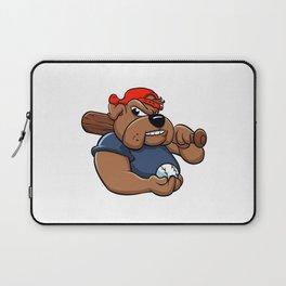 fat bulldog baseball player Laptop Sleeve
