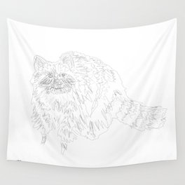 Scribbly Racoon Wall Tapestry