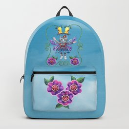 Angel Kitty (Turquoise) Backpack