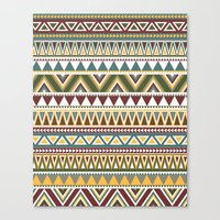 aztec Canvas Prints featuring Aztec by Dianne Delahunty