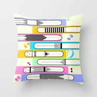 suits Throw Pillows featuring swim suits  by filipa nos campos