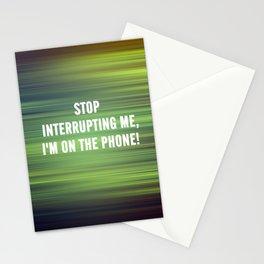 Interrupting Stationery Cards