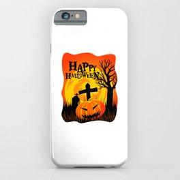 Happy Halloween Cemetery iPhone Case