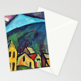 Mountain landscape with houses - Digital Remastered Edition Stationery Cards