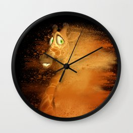 The speed giraffe Wall Clock