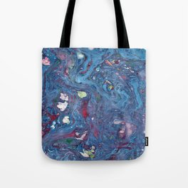 Marble art : Blue Universe Tote Bag