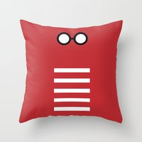 waldo Throw Pillows featuring Where's Waldo Minimalism by Dianne Delahunty