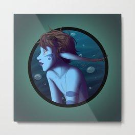 Rainie Underwater Metal Print