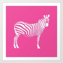 Big Pink Zebra Art Print