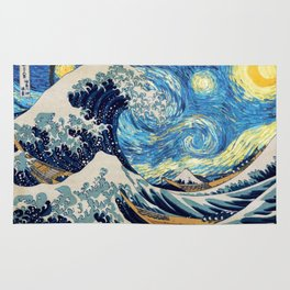 Starry (Great Wave) Night Rug