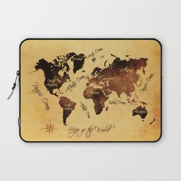world map 75 Laptop Sleeve