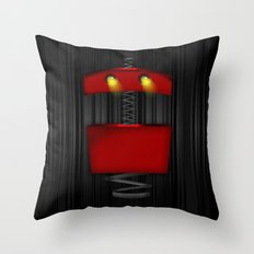 Tin Droid Throw Pillow