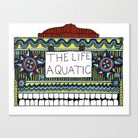 life aquatic Canvas Prints featuring Life Aquatic  by Eirik Walland Larsen