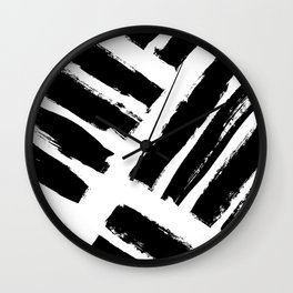 Abstract Monochrome 02 Wall Clock