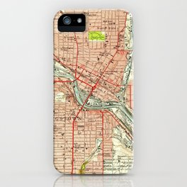 Vintage Map of Youngstown Ohio (1951) iPhone Case