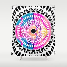 Bright Spirit Mandala Shower Curtain