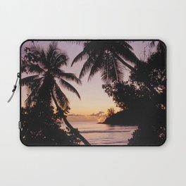 Palm sunset, Praslin, Seychelles Laptop Sleeve