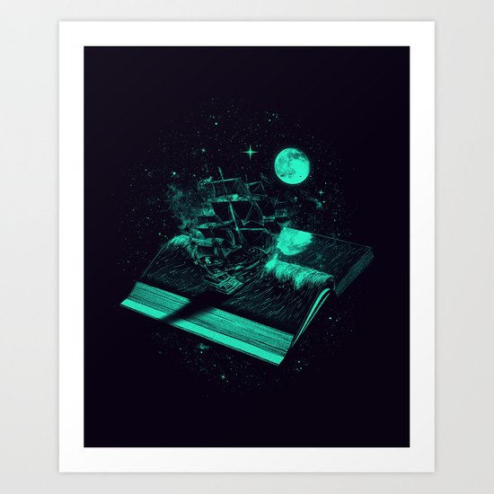 Crossing the Rough Sea of Knowledge   Art Print