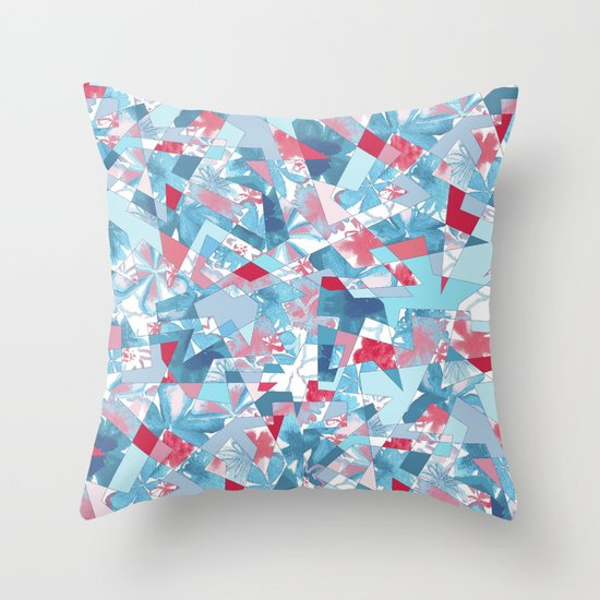 Shattered Floral Throw Pillow