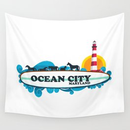 Ocean City - Maryland. Wall Tapestry