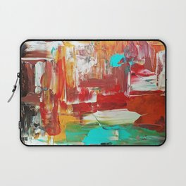 Contemporary Palette Knife Abstract Plaid 7 - Autumn Laptop Sleeve