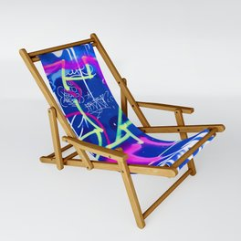 Blue Mood with Pink Language Sling Chair